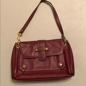 Small deep red bag